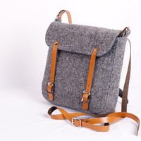 Harris Tweed Grey Effie Bag