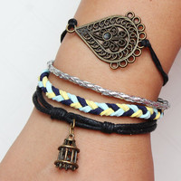 bracelets-- antique  leather bracelets  mens bracelets,womens bracelets ,adjustable length for men and women ,gift bracelet