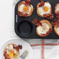 stuff your face / Bacon, Egg, and Toast Cups - Martha Stewart Recipes