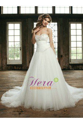 Discount Sweetheart Ball Gown Tulle Wedding Dress