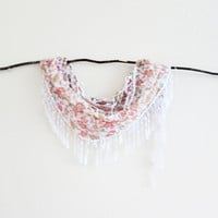 Floral Shabby Chic Lace Scarf Beach Wedding Bridal Bridesmaids