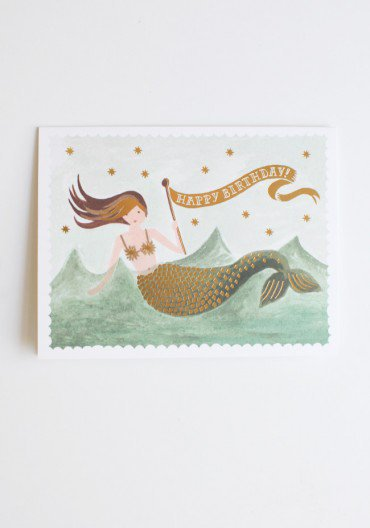 vintage mermaid birthday card by Rifle Paper Co. at ShopRuche.com