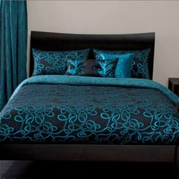 Michael Payne Twisty Vine Turquoise Bedding by Michael Payne; Comforters, Comforter Sets, Bed In A Bag, Bedspreads, Quilts &amp; Duvets: The Home Decorating Company