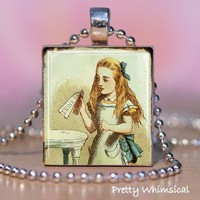Vintage Alice In Wonderland Scrabble Tile by prettywhimsical