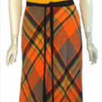 70s Vintage Wrap Around Maxi Dress