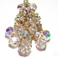 Vintage Swarovski Crystal Beadand Rhinestone Brooch/Pendant