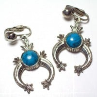 Vintage Southwestern Style Turquoise Earrings