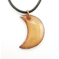 Golden Crescent Moon Necklace