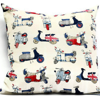 British Pillow cover - 18x18 Decorative cushion cover, throw pillows, envelope pillow covers