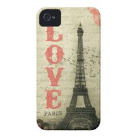 Vintage Paris Iphone 4 Case-mate Cases from Zazzle.com