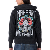 Obey Make Art Not War Charcoal Hoodie at Zumiez : PDP