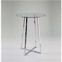 Ursula Contemporary Round Glass Top Bar, Round Glass Top Bar, Contemporary Round Bar: Nyfurnitureoutlets.com