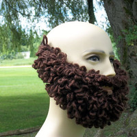 Beard and Mustache Knit for Bearded Beanie and Hat