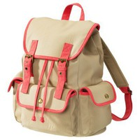 Xhilaration Tan/Orange Neon Backpack