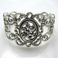 Danecraft Sterling Silver Filigree Cuff Bracelet