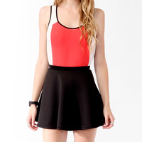Textured Colorblock Front Tank