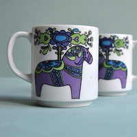 Dala Horse Mugs - Set of 2