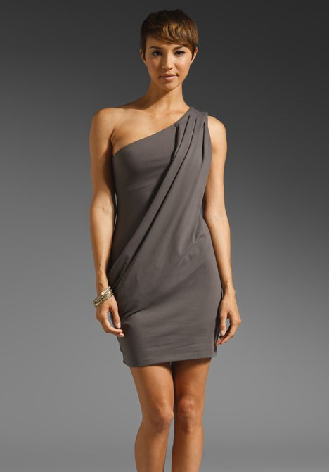 Susana Monaco Takeko One Shoulder Drape Dress in Torando from REVOLVEclothing.com