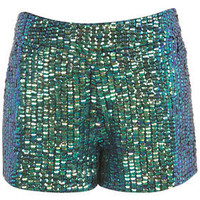 Mermaid Sequin Shorts - Shorts  - Apparel