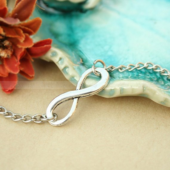 infinity bracelet, Antique karma bracelet, True Love bracelet