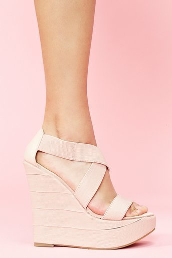 Bound Platform Wedge - Blush