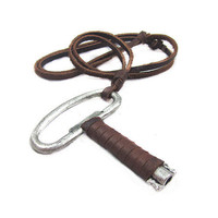0211soft leather necklace key pendant men leather long necklace, women leather necklace  PL-