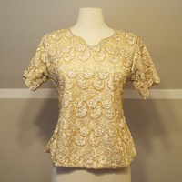 50s Cream Bead and Lace Blouse