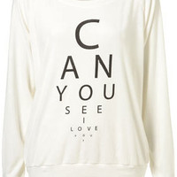 Eye Test Raglan by Illustrated People** - Clothing - Designers & Collections - Topshop USA