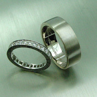 Diamond eternity, Unique diamond ring, Engraved, Engagement, Wedding band, Diamond, Eternity ring, poesy, posie, ring, band