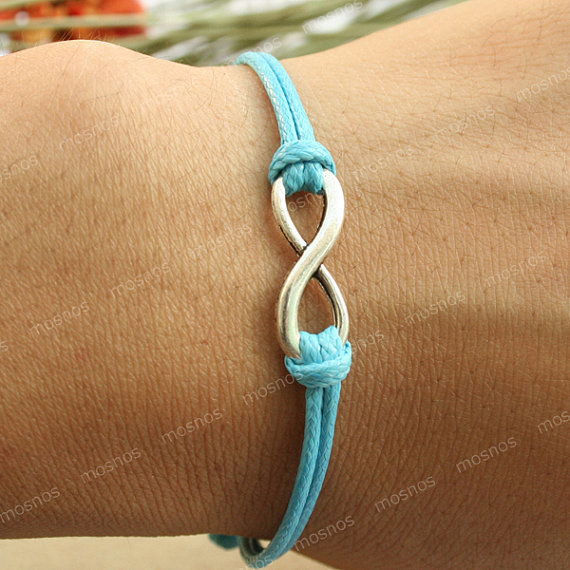 Bracelet-turquoise karma infinity bracelet, boyfriend gift bracelet, gift for girlfriend