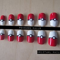Pokemon Balls Nail Art Set
