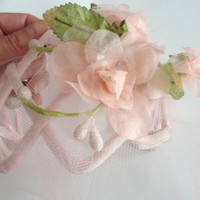 Pink Flower Hat, Vintage Fascinator