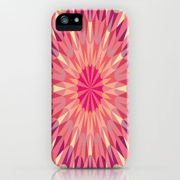 Warm Pink Retro Geometry #2 iPhone & iPod Case by 2sweet4words Designs | Society6