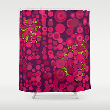 Groovy Dots Shower Curtain by Webgrrl