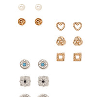 FOREVER 21 Filigree Stud Set Gold/Silver One