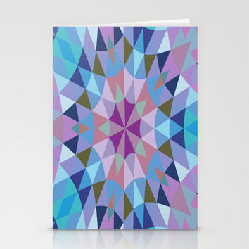Lavender Retro Geometry Stationery Cards by 2sweet4words Designs