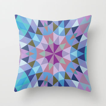 Lavender Retro Geometry Throw Pillow by 2sweet4words Designs