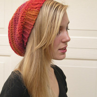 Sunset slouchy hat, Winter Fashion 2014, cozy hat, Fashion slouchy hat, made to order, trends fashion slouchy hat