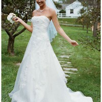 Buy Embroidered Organza Gown with 3D Floral Details Style 7WG9859  for $154.16 only in Fashionwithme.com.