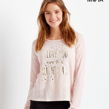Aeropostale All The Stars Hi-Lo Tunic - Ltpink 916,