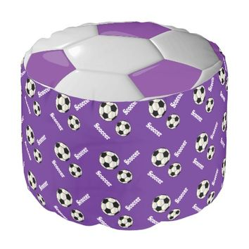 Soccer Purple, White and Black Sport Pattern