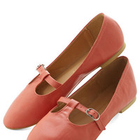ModCloth Minimal Composing Lines Flat in Coral