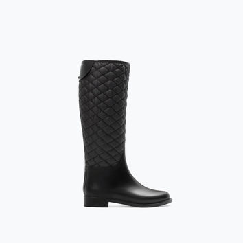 Combined rubber boot