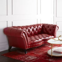 Old Hickory Tannery Bourdeaux Leather Sofa