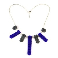 Rebecca Collection: Blue Statement Necklace