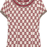 Isabel Marant Mallory embellished jacquard top – 55% at THE OUTNET.COM