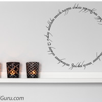 Lord Of The Rings Inscription | Wall Decals | The Decal Guru