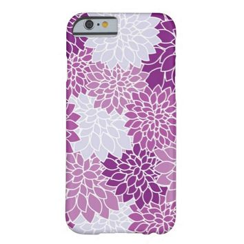Vintage Purple Floral pattern iPhone 6 case
