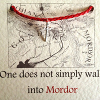 Lord of the Rings Mordor Sword Charm Red Bracelet
