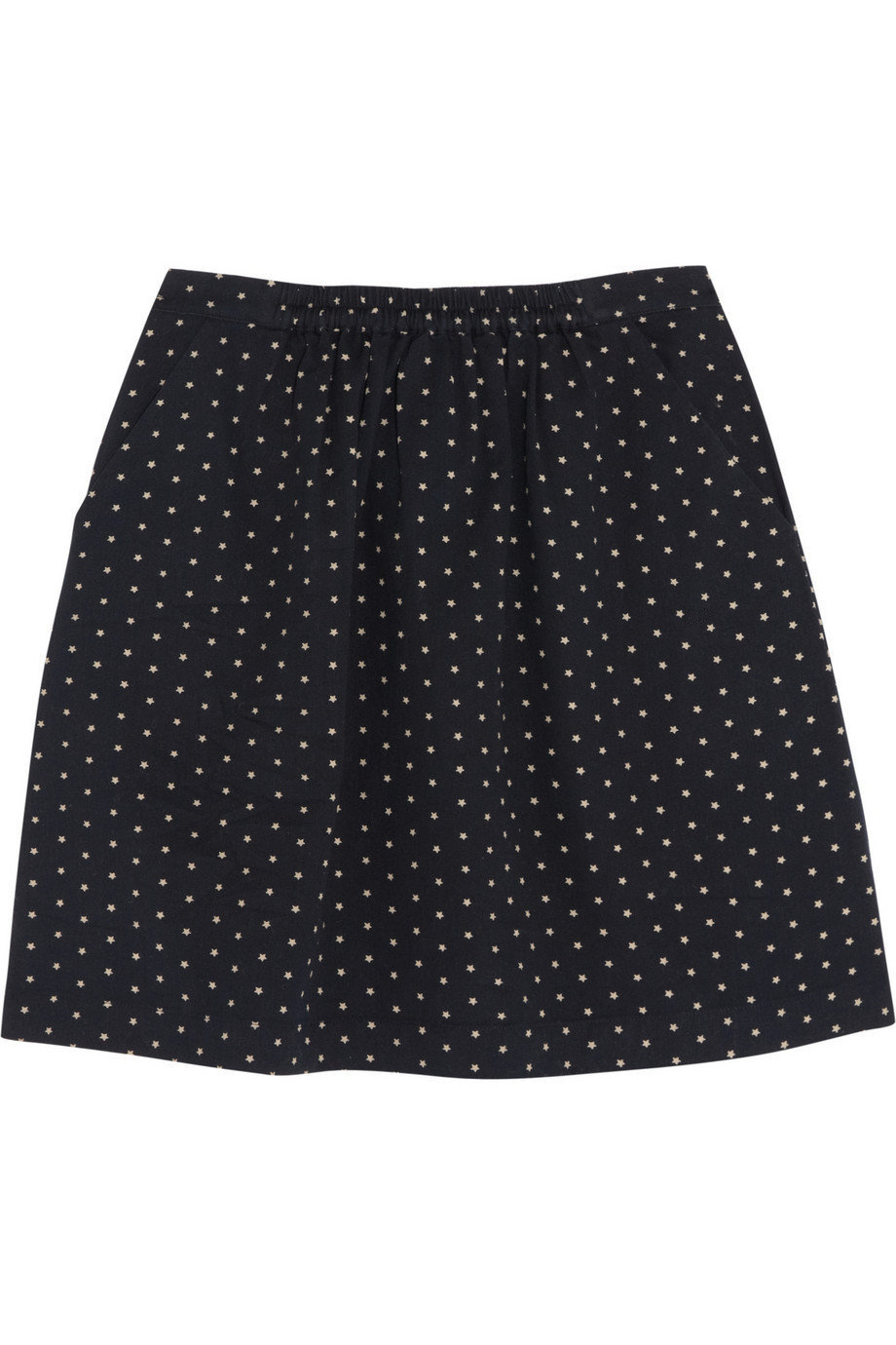 Chinti and Parker | Star-print cotton-twill mini skirt | NET-A-PORTER.COM